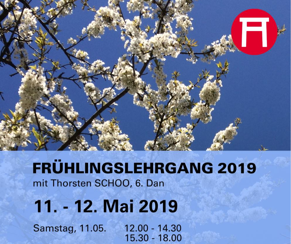 Ankündigung Seishinkai Aikido Frühlingslehrgang Mai 2019