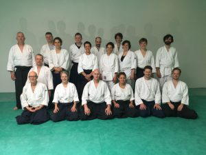 Gruppenbild Teilnehmer Seishinkai Aikido Fruehlingslehrgang in Frankfurt (Mai 2019)