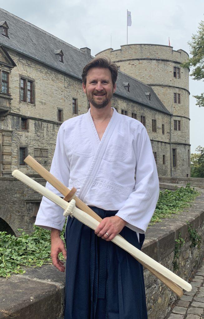 Olaf Marshall vor Wewelsburg