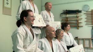 Überreichung des Seishinkai Aikido Kindertrainer Zertifikats an Nadja Oberdorfer am 13. September 2020