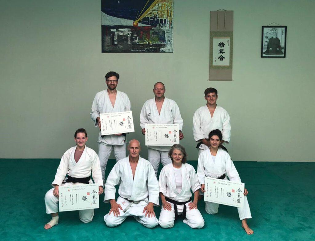 Verleihung der Seishinkai Aikido Kindertraining Zertifikate an die Abschlussjahrgänge 2019 und 2020 im September 2020